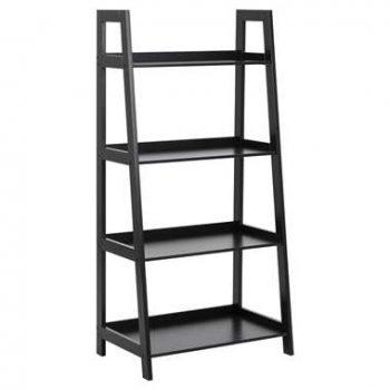 Boekenkast Edsele - zwart - 130x63x40 cm - Leen Bakker