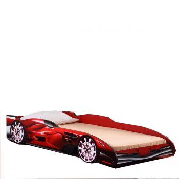Met dit sportieve autobed heb je een bed dat afgewerkt is met een stoere raceauto print compleet met stoere wielen en een racevleugel die helemaal bij een kind past dat van raceauto's houdt. Tevens heeft het bed een verhoogde rand die ervoor zorgt dat je kind veilig in bed kan slapen.