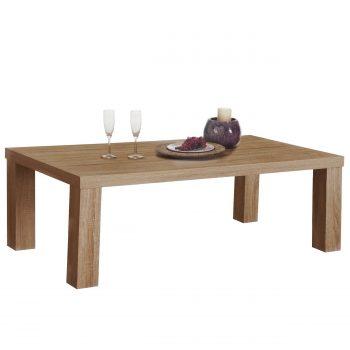 Het frame is gemaakt van een milieuvriendelijk plaatmateriaal en afgewerkt een lichte repro eiken melamine.