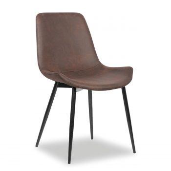 Pure vintage look met een gezellige uitstraling voor een betaalbare prijs. De bruine microfiber stof is super sterk en zeer onderhoudsvriendelijk. Een echte aanrader! Deze stoelen zijn uitsluitend per set van 2 te bestellen.