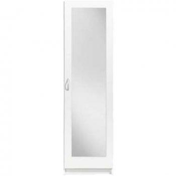 Kledingkast Varia 1-deurs inclusief spiegel - wit - 175x49x50 cm - Leen Bakker