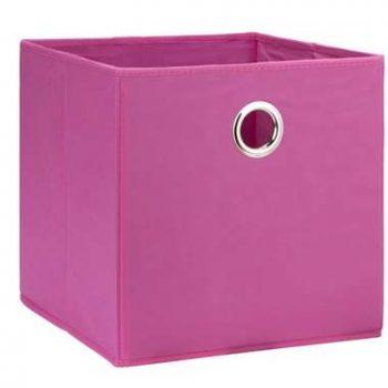 Opbergbox Parijs - roze - 31x31x31 cm - Leen Bakker